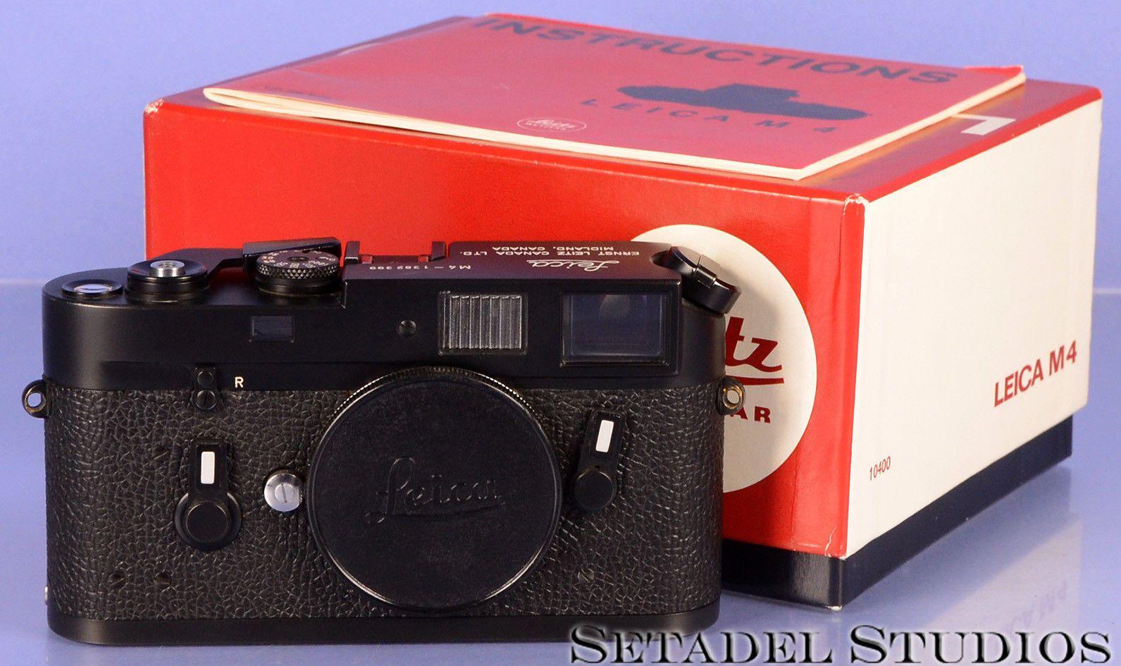 LEICA LEITZ M4 MIDLAND BLACK RANGEFINDER BODY #1382399 W/ BOX CAP ...