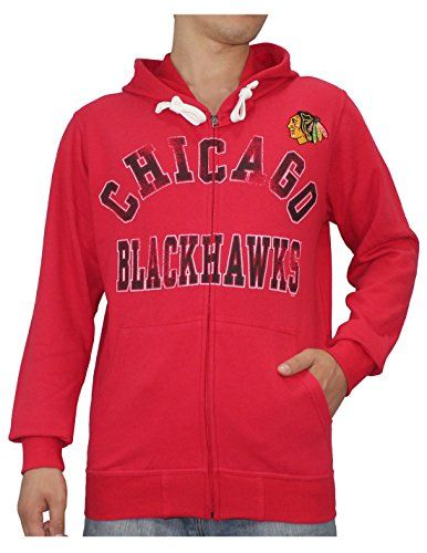 0bfdb495b0c NHL Mens CHICAGO BLACKHAWKS Athletic Warm ZipUp Hoodie Jacket S Red     Click on the image for additional details.