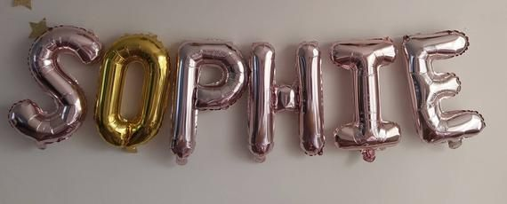 HOORAY Balloons | Rose Gold Balloons | Gold Silver Balloons | Party | Letter | Garland Balloon | Bridal Shower | Bridal | Wedding