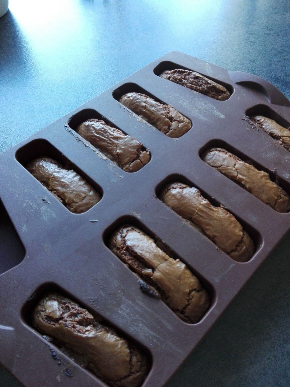 Financiers au chocolat ou comment passer 2 blancs d'oeufs
