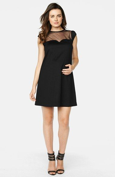 Maternal America Cap Sleeve Maternity Dress available at #Nordstrom