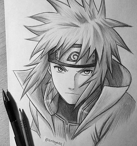 Minato Naruto Drawings Naruto Sketch Anime Naruto