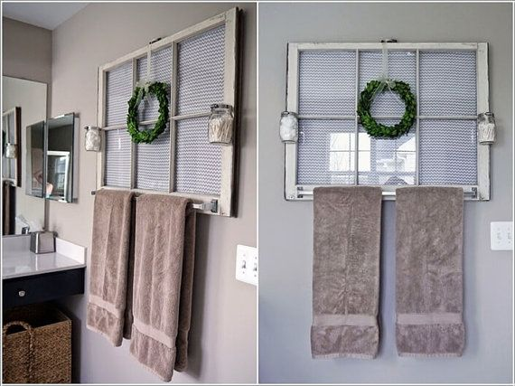Bathroom Wood Antique White Frame Wood Window Frame 6 Pane Vintage