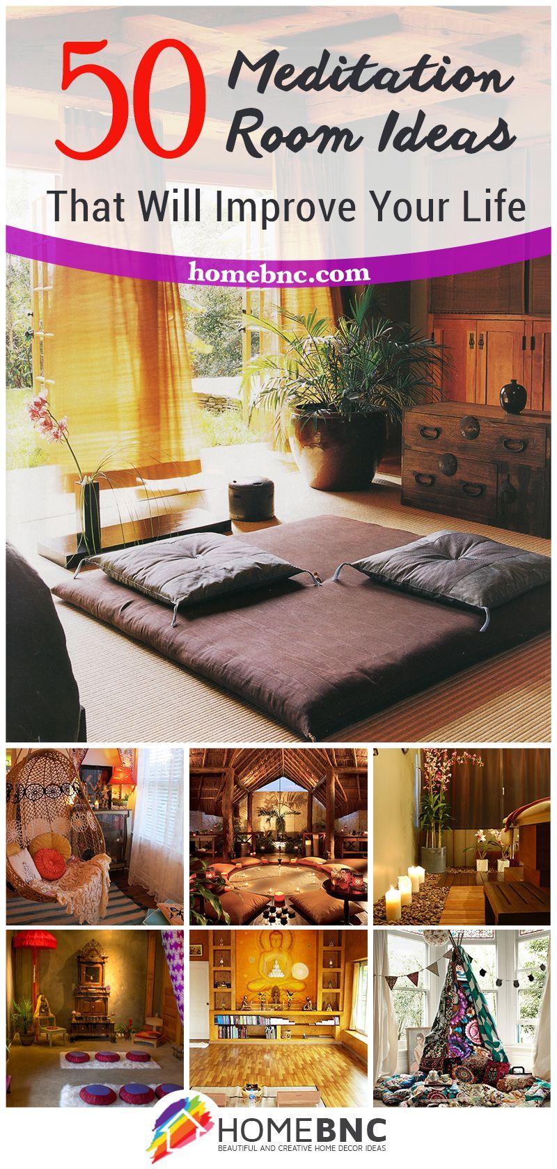 50 Meditation Room Ideas that Will Improve Your Life | 50er, Leben ...
