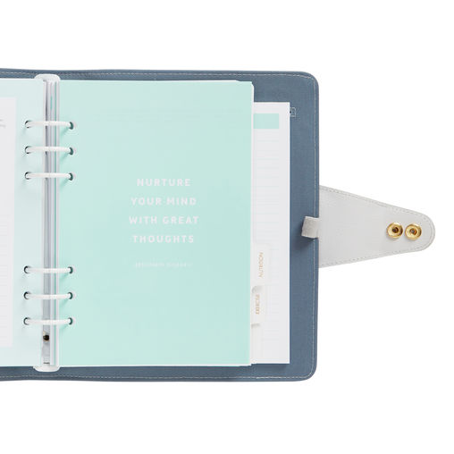A5 leather wellness planner inspiration Refillable