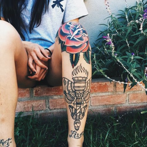 Body Art Below The Knee: Traditional Moth Tattoo Knee - Google Search