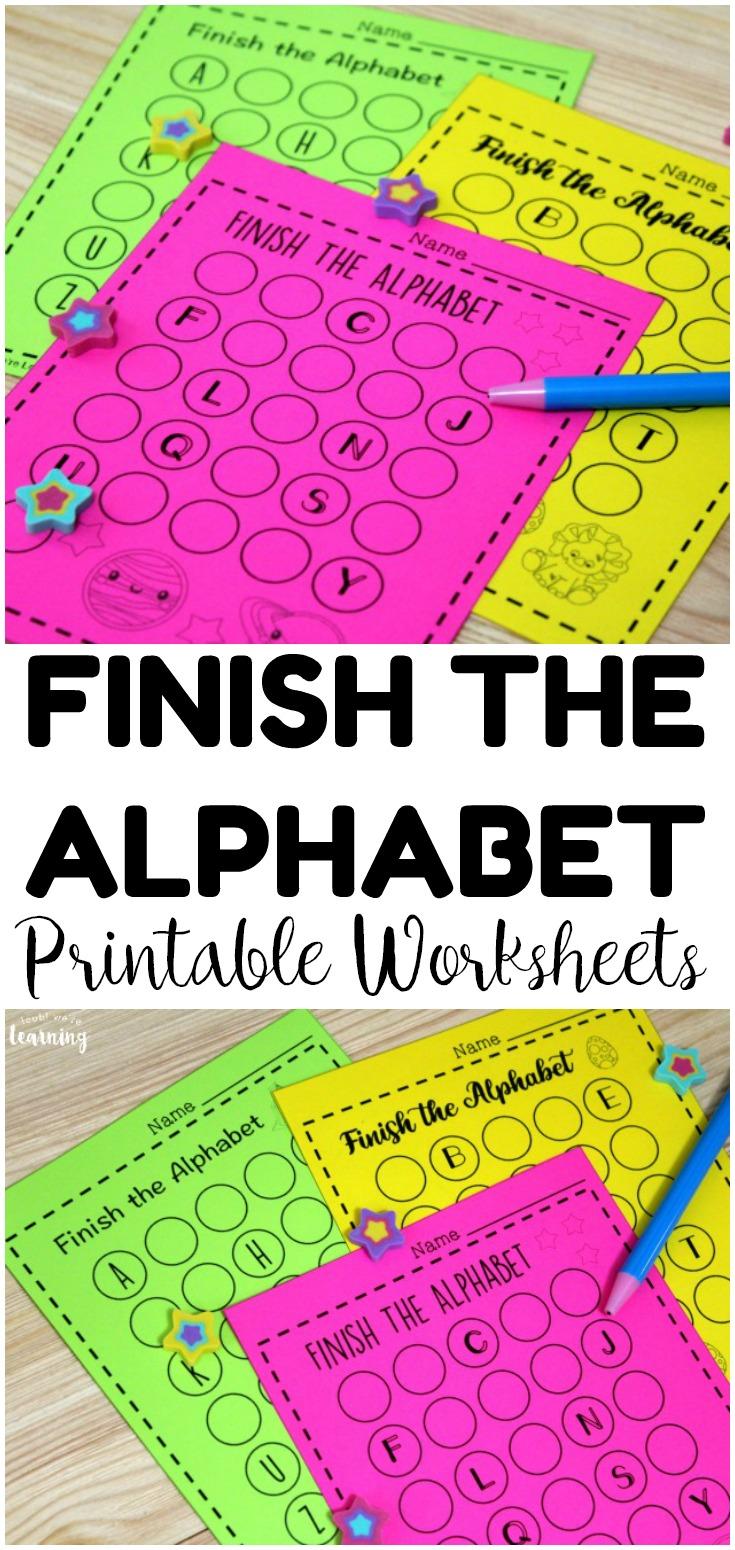 A To Z Race Finish The Alphabet Worksheets For Kids Look We Re Learning Alphabet Kindergarten Preschool Phonics Alphabet Preschool [ 1550 x 735 Pixel ]