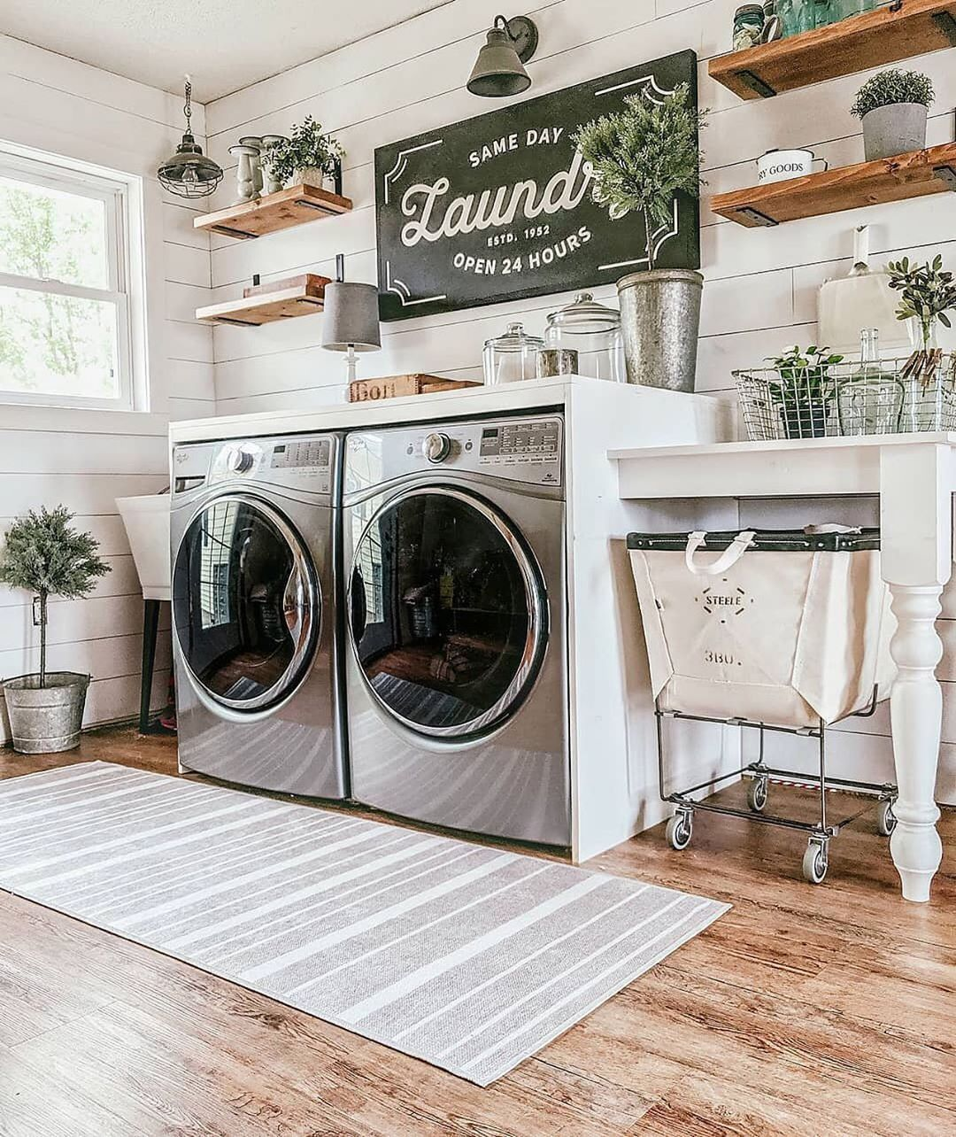 Ruggable On Instagram Laundry Room Goals Via Our Forever Farmhouse Wash In 2020 Laundry Room Organization Storage Farmhouse Laundry Room Laundry Room Makeover