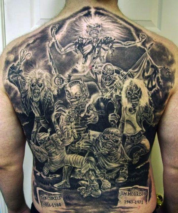 Iron Maiden Album Covers Iron Maiden Album Cover Back Tattoo