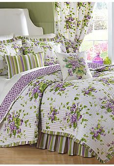 waverly® sweet violets quilt set collection #belk #home | under
