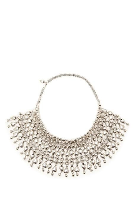 Silver-Plated Beaded Heart Necklace by Aurélie Bidermann