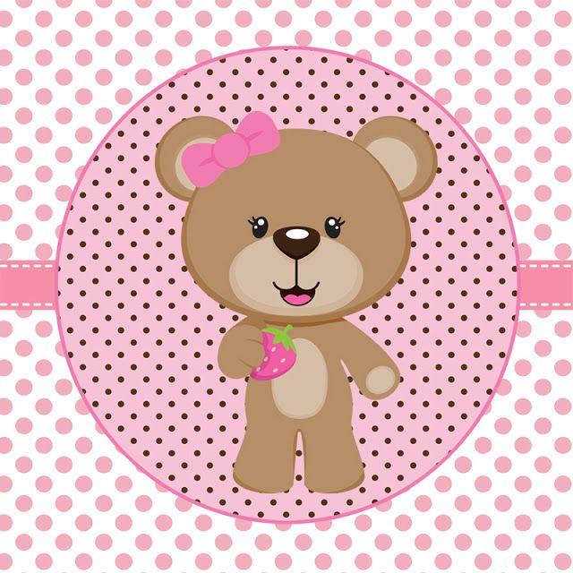 Armario Planejado Banheiro ~ Tags de Ursinha rosa e marrom para imprimir Dicas pra Mam u00e3e moldes artesanato Pinterest