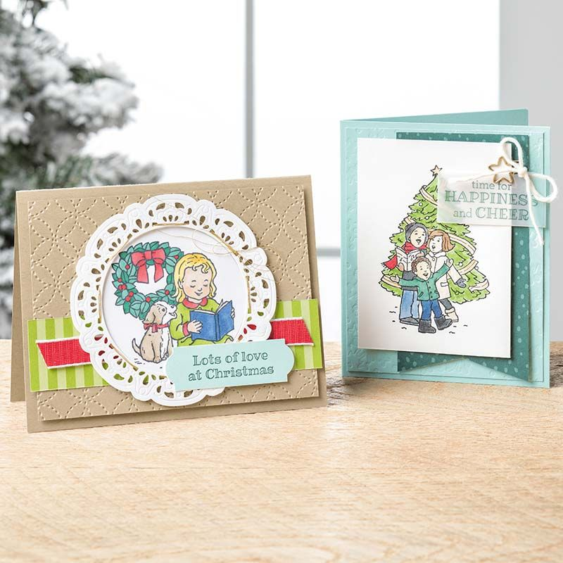 Happiness & Cheer Clear-Mount Stamp Set | Stampin Up - Card Ideas ...