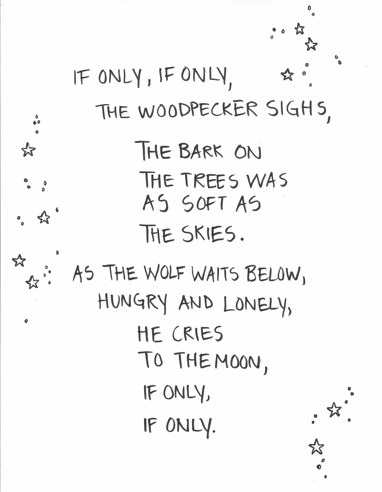 First Chapter Book I Ever Read, Holes. Such A Cute Poem