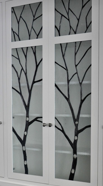 Inspiring Leaded Glass Cabinet Doors Gallery