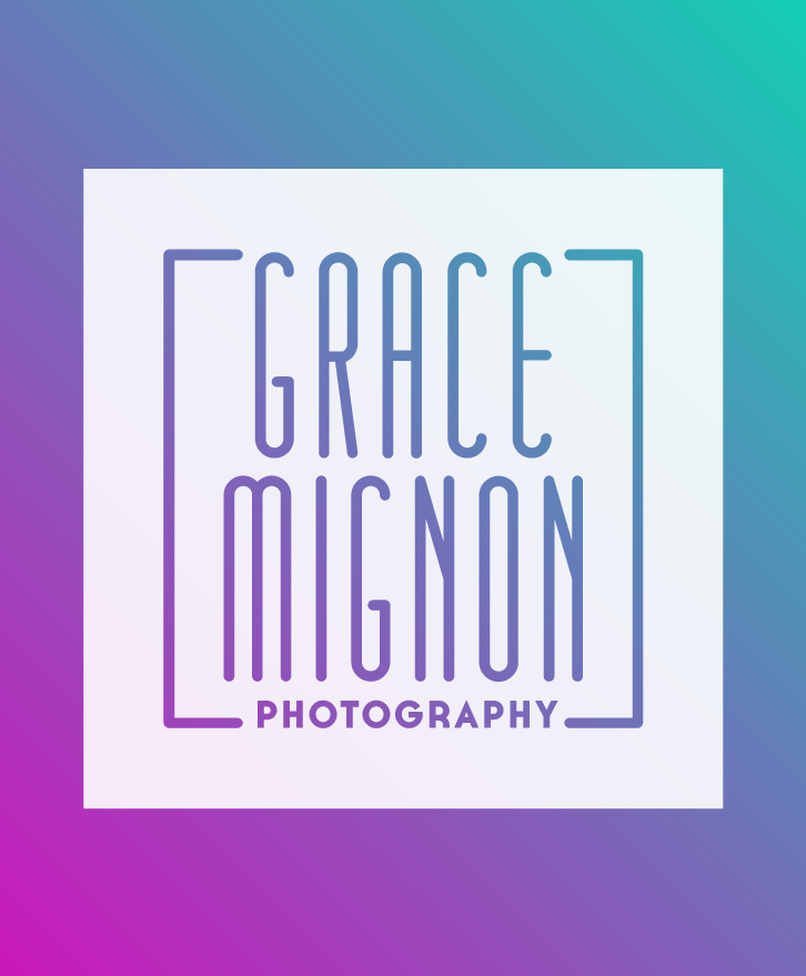 Logo For Grace Mignon Photography Shown As Knockout Logo