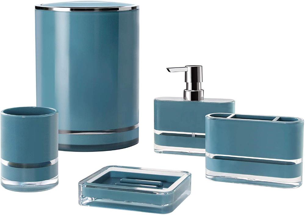 Amazon Com Immanuel Float 5 Piece Bathroom Accessory Set Teal