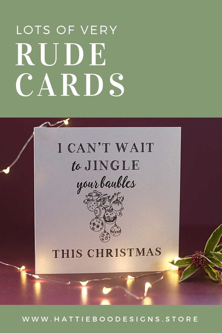 Rude Christmas Cards, Cards for men, Cards for lovers, Saucy Cards ...