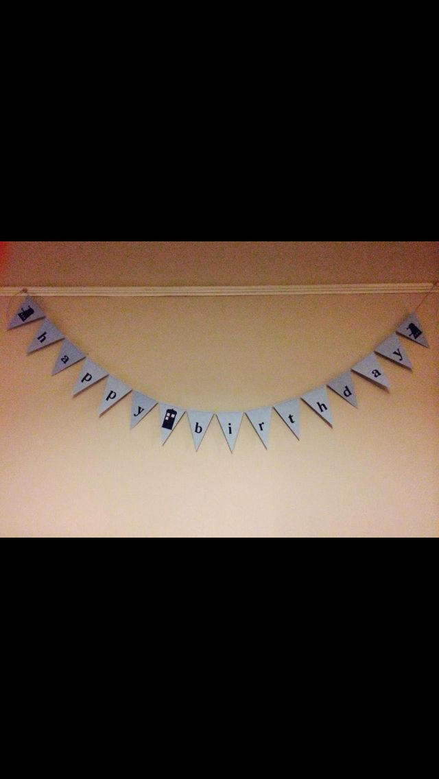 Dr who themed birthday bunting £3 Fb page- mink&berts Etsy- MinkandBerts