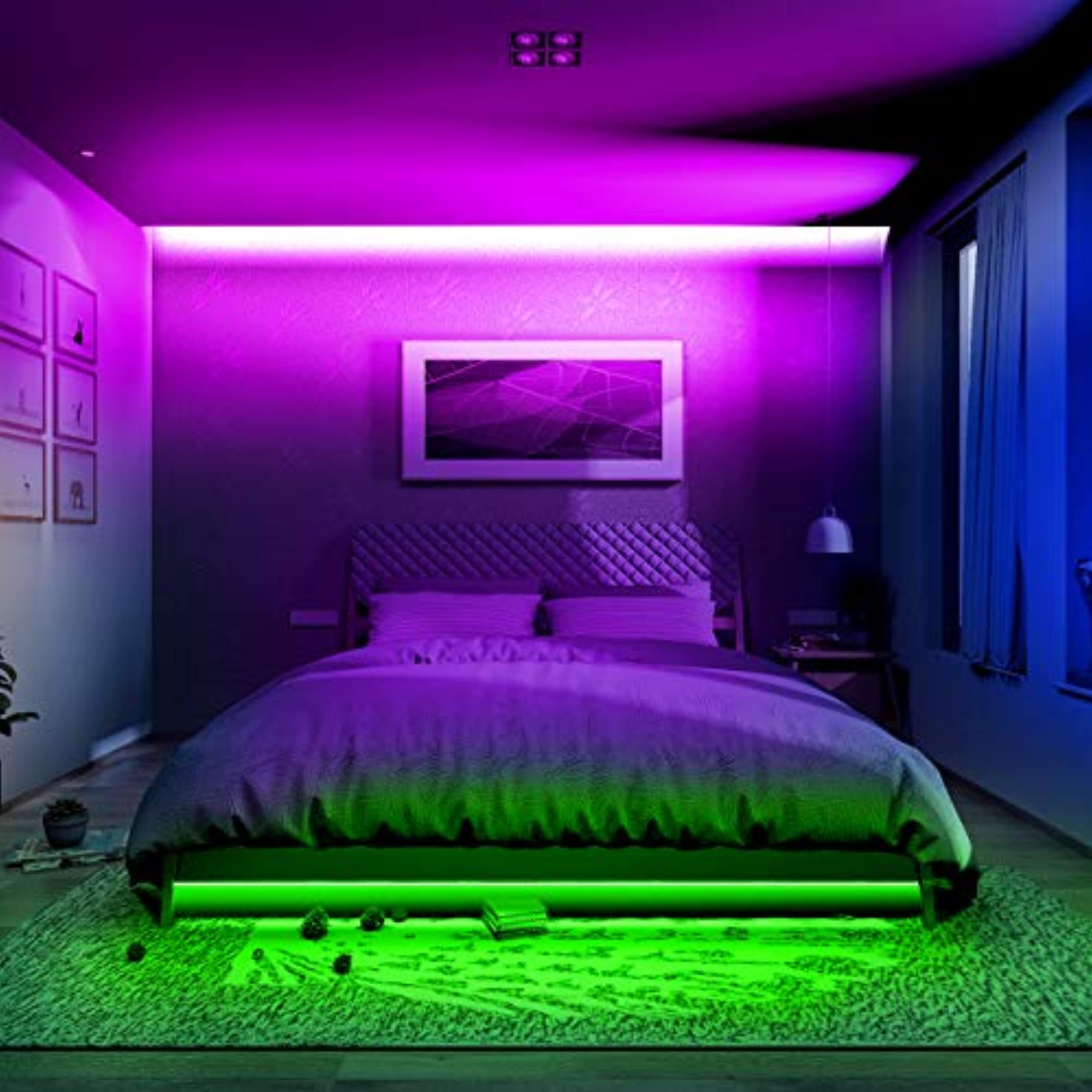 Phopollo Led Strip Lights Color Changing 32 8ft Flexible 5050 Rgb Led Lights Kit With 12v Led Lighting Bedroom Led Strip Lighting Led Lights