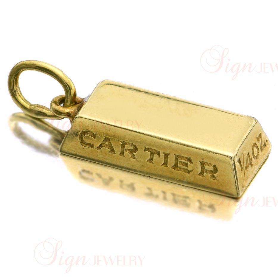 Finest CARTIER 1/4 Oz 18k Yellow Gold Ingot Bar Bullion Pendant | Cartier  PU84