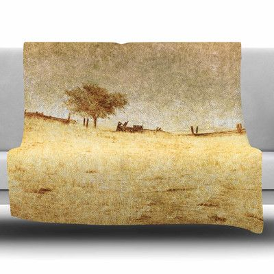East Urban Home One Tree by Sylvia Coomes Fleece Blanket Size: 80'' L x 60'' W