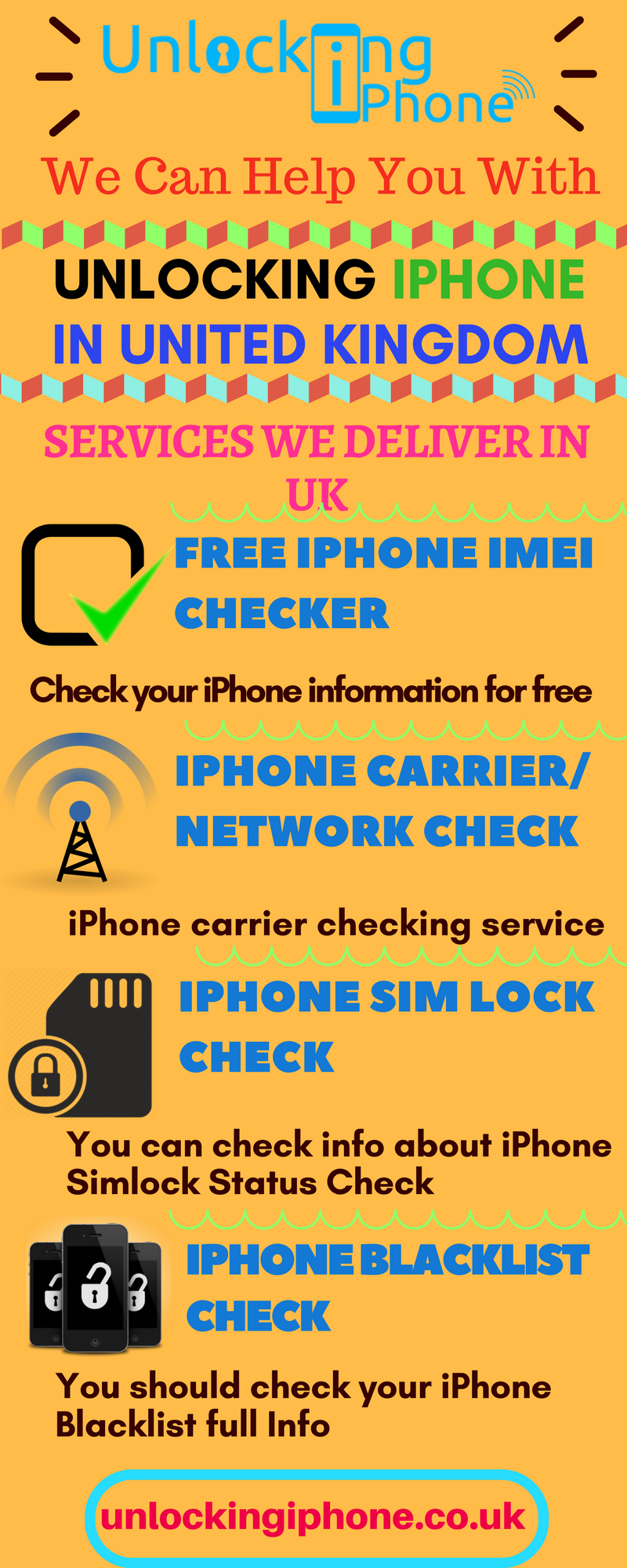 Unlocking Iphone offers different services in UK like Iphone SIM