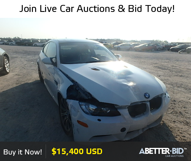 Salvage 2009 BMW M3 For Sale