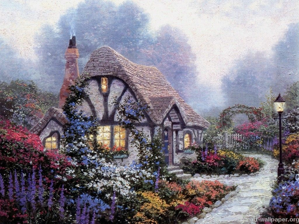 Beyond The Garden Gate By Thomas Kinkade Kinkade Paintings