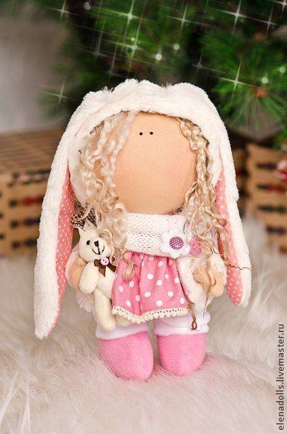 Коллекционные куклы ручной работы. Ярмарка Мастеров - ручная работа. Купить Куколка-зайка .. Handmade. Кукла ручной работы