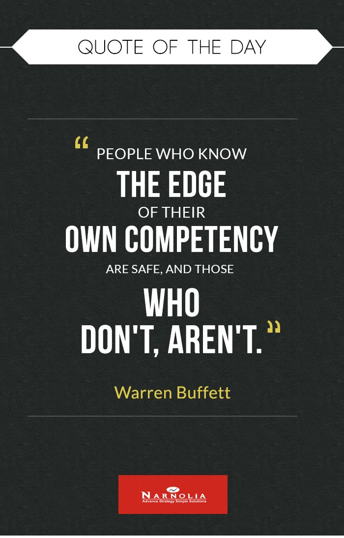 """T Stock Quote Quote Of The Day """"people Who Know The Edge Of Their Own Competency"""