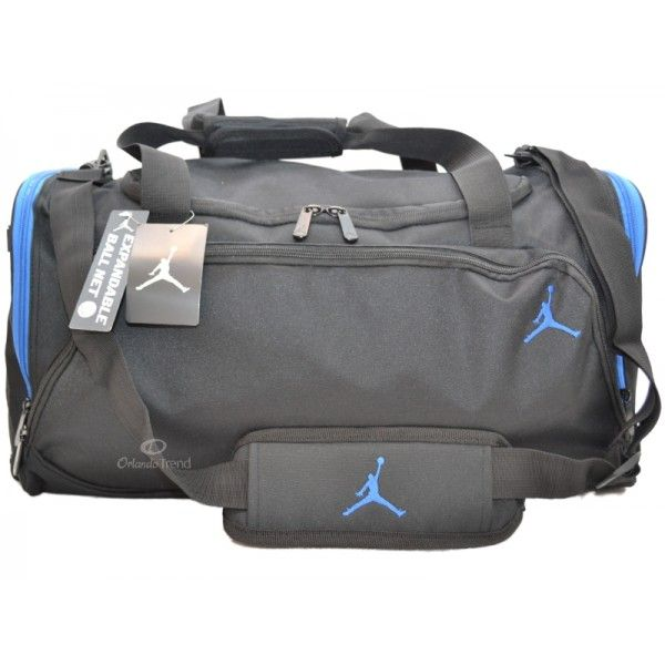 Nike Air Jordan Black and Blue Large Gym Duffel Bag for Men and ...