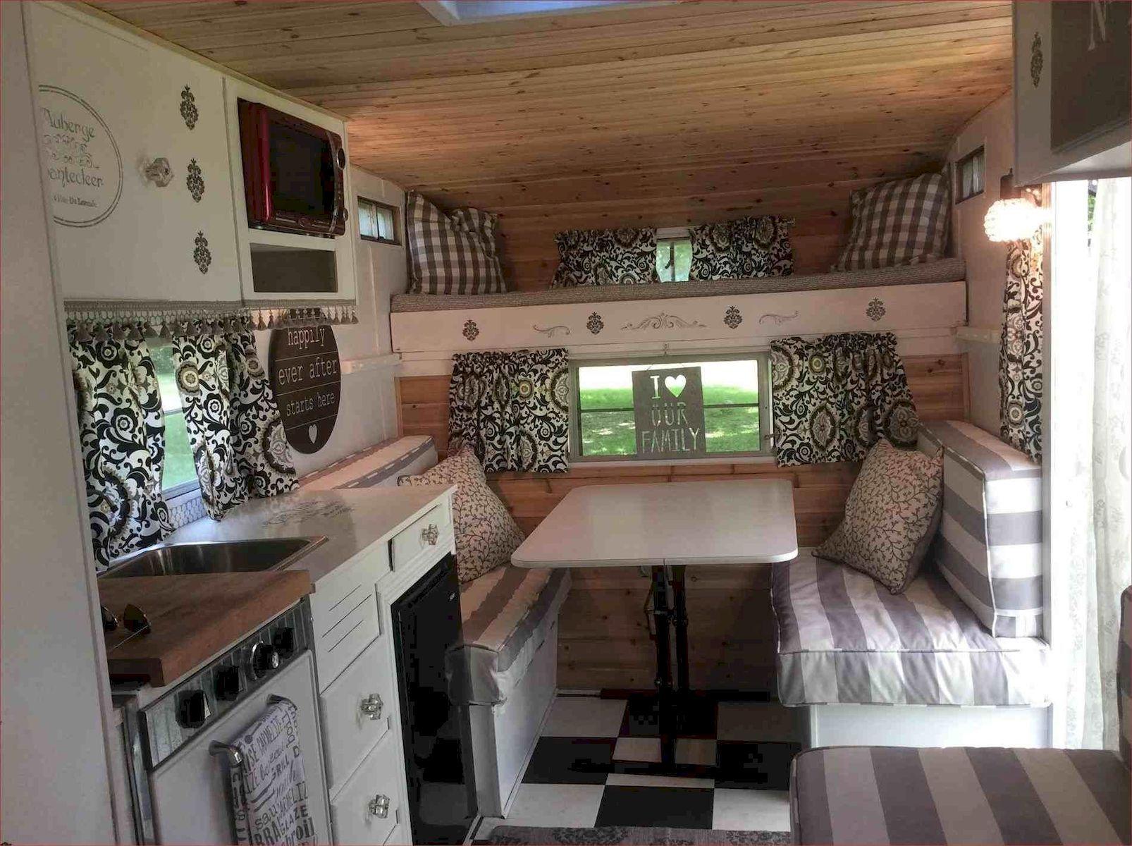 Amazing Rv Travel Trailer Remodels Ideas Vintage Camper Interior