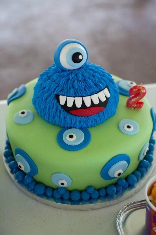 Remarkable Monster Birthday Monster Birthday Cakes Birthday Cake Kids Funny Birthday Cards Online Inifofree Goldxyz