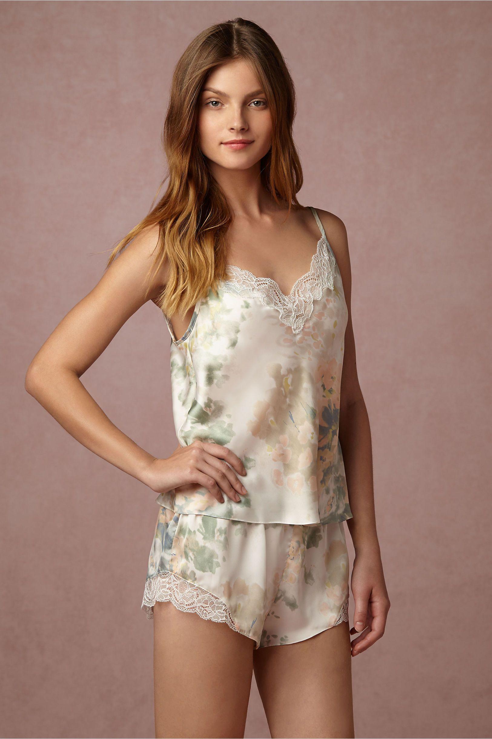 48547c1894f BHLDN Whispering Blooms Cami   Shorts Set in Bridesmaids Bridesmaid  Accessories at BHLDN
