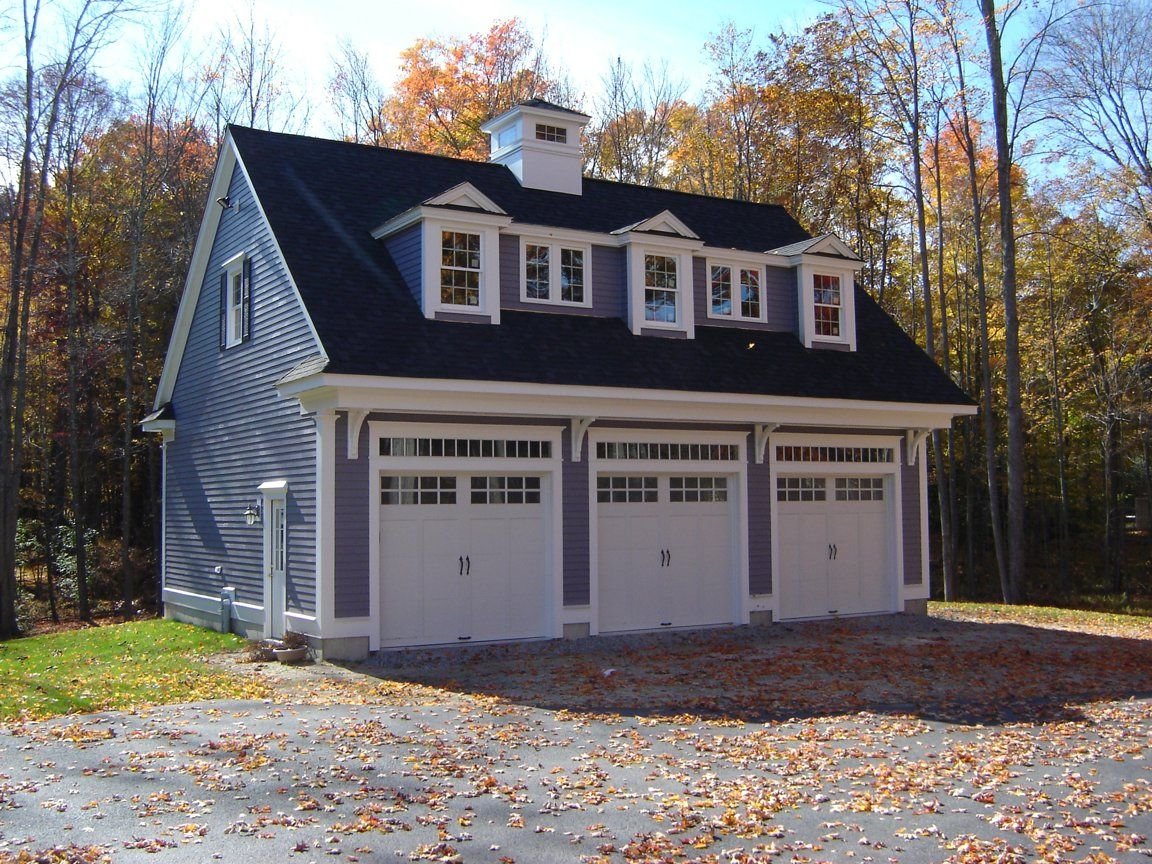 Detached garage pepperell ma detached garage for Farmhouse plans with detached garage