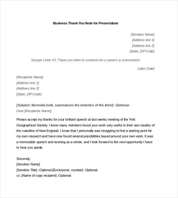 business thank you note free word excel pdf format download person - professional business letter template word