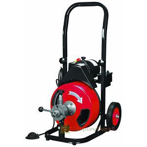 Commercial 50ft 1 2 Electric Drain Auger Drain Cleaner Machine Snake W Cutter Drain Cleaner Gfci Drain