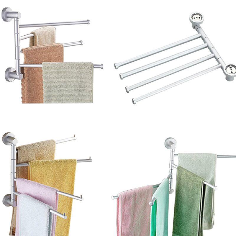 4 Layers Aluminum Towel Bar Rotating Towel Rack Bathroom Kitchen - handtuchhalter für küche
