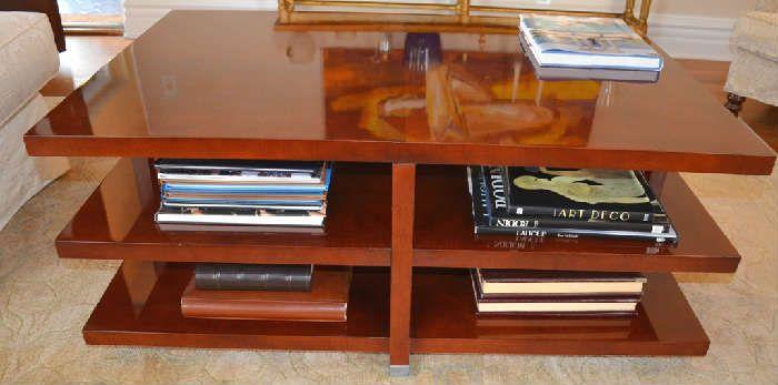 Baker Two Shelf Coffee Table 48 Inch Long 32 Inch Wide 20 Inch