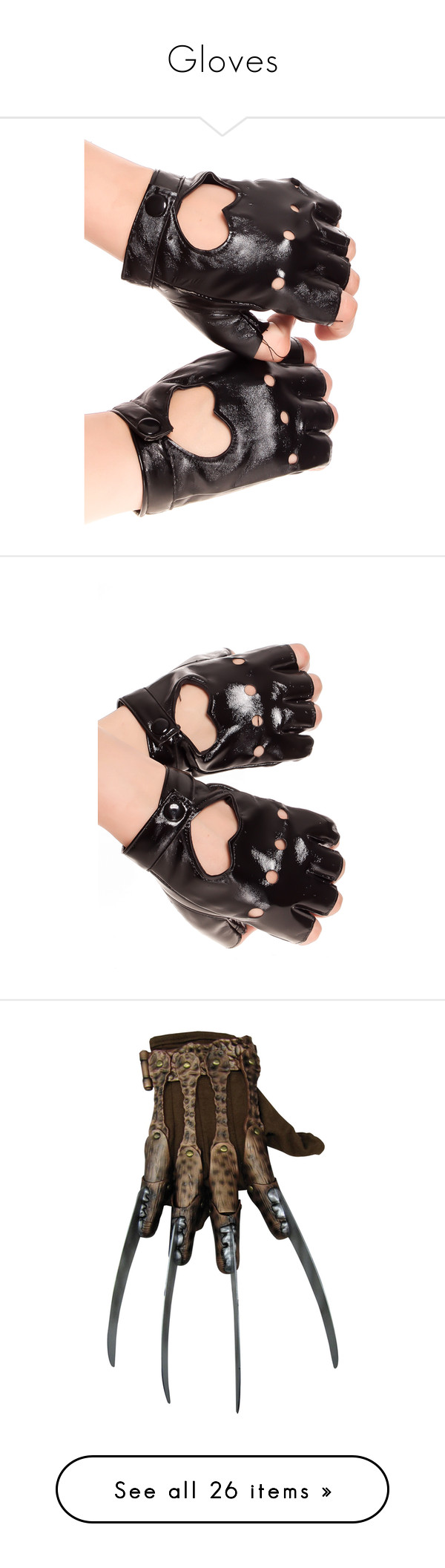 Fake leather driving gloves -  Gloves By Demonqueen99 Liked On Polyvore Featuring Accessories Gloves Black Leather Glovesvegans