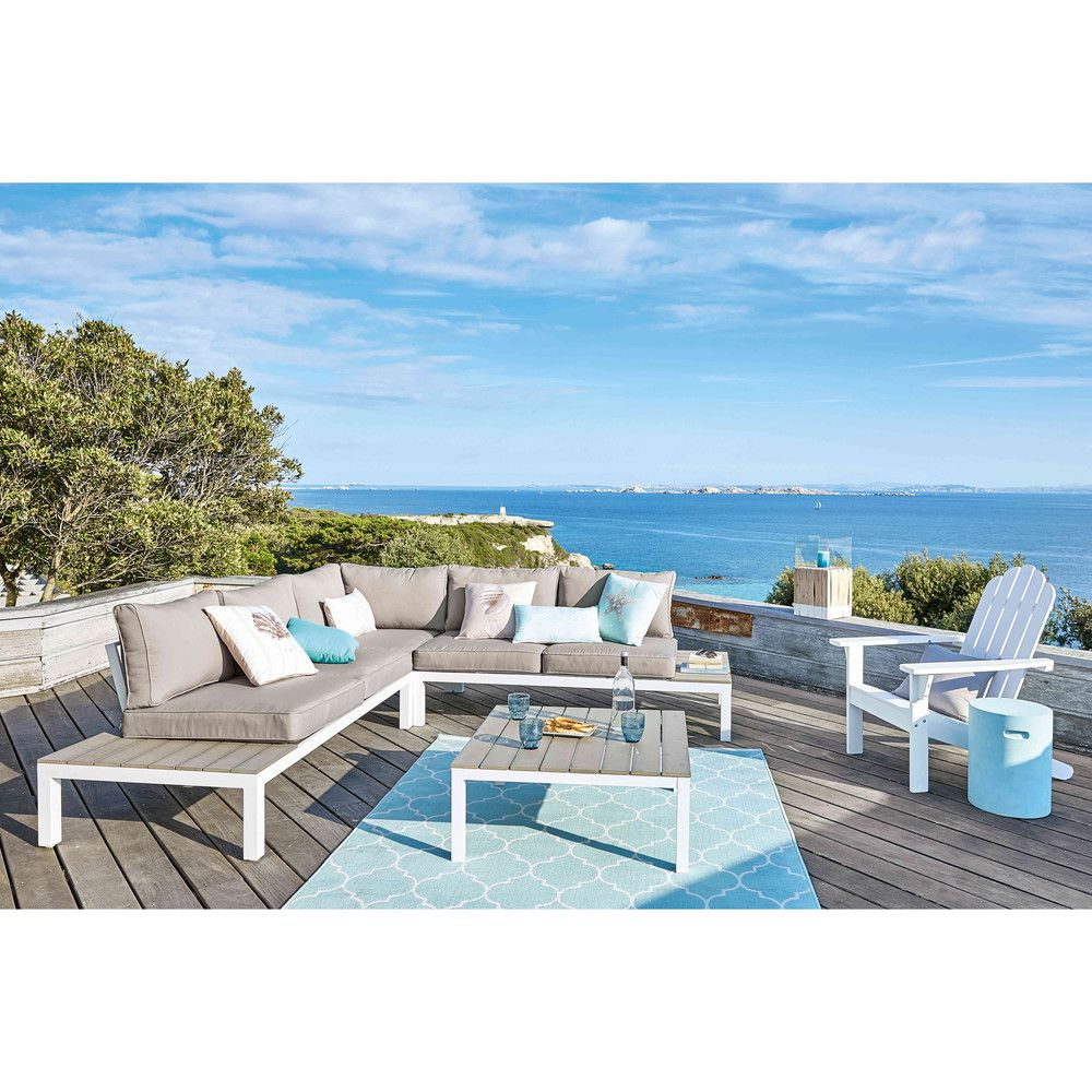 Salon de jardin 6 places | Turquoise fabric, Outdoor rugs and Patios