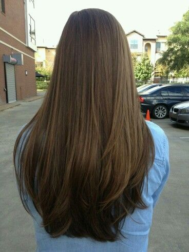 Long Brown Hair Color With Layers Straight Hair Long Hair Styles Hair Styles Long Straight Layered Hair