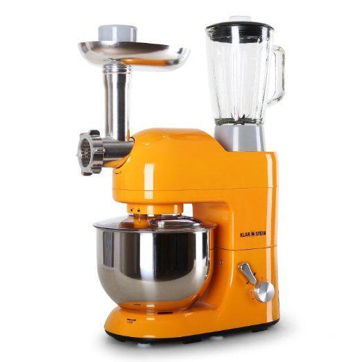 Klarstein Lucia Rossa Robot Da Cucina Multifunzione Mixer Impastatrice Planetaria 1200 Watt 5 2 Litri 6 Velocita Acciaio Inox Robot Da Cucina Mixer Robot