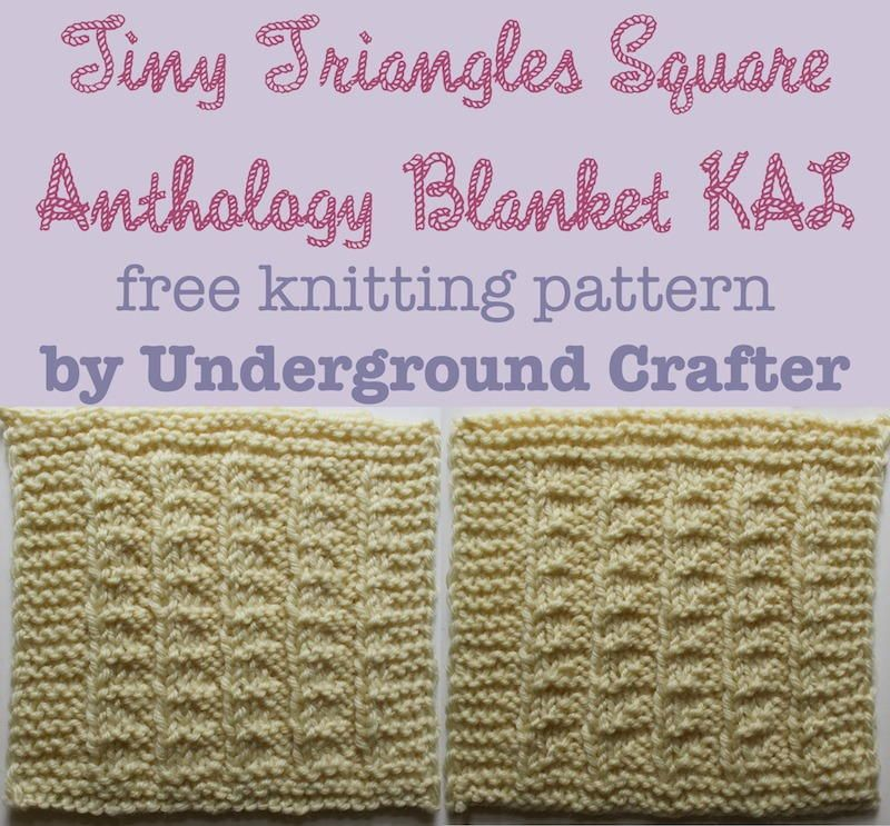 Tiny Triangles Square Triangles Squares And Knitting Patterns