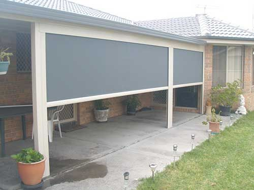 Channel X Channel X outdoor blinds have a lockable bottom bar making