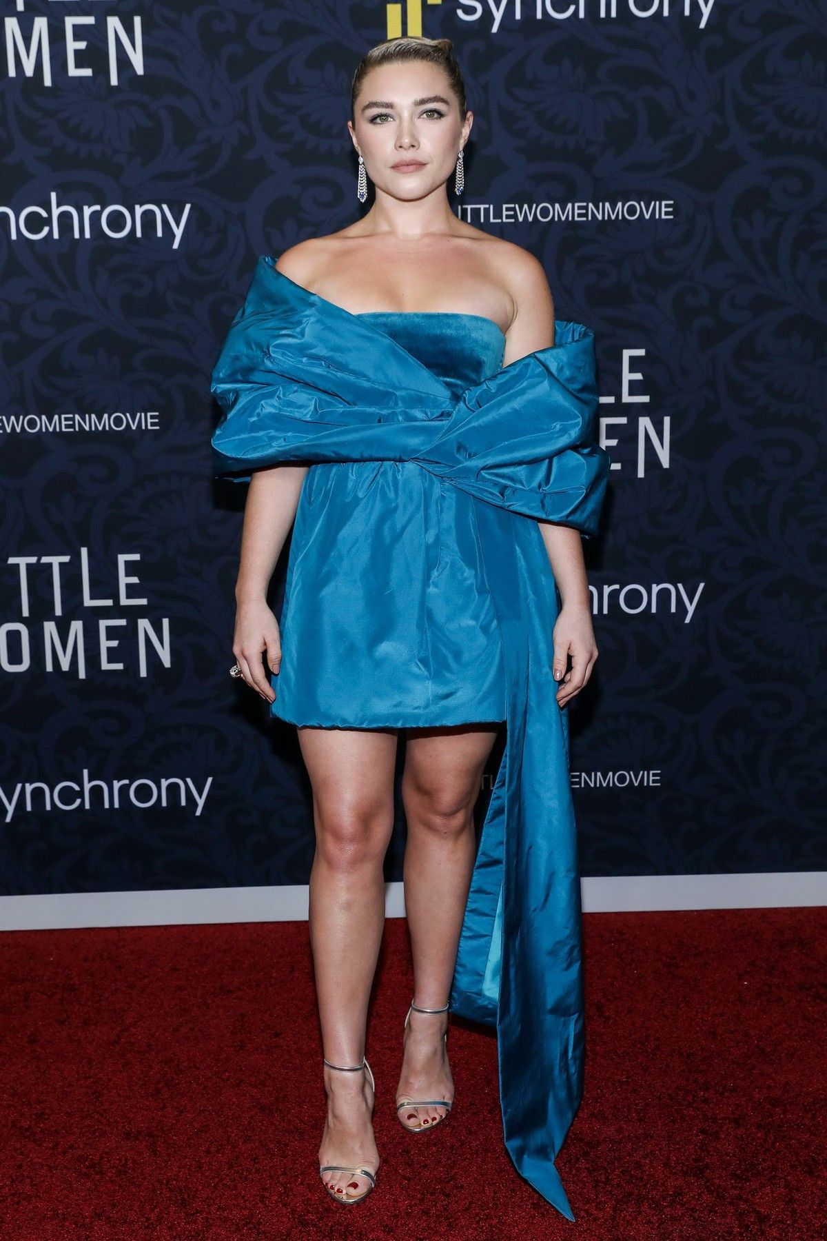 Florence Pugh arrives 'Little Women' Premiere in New York