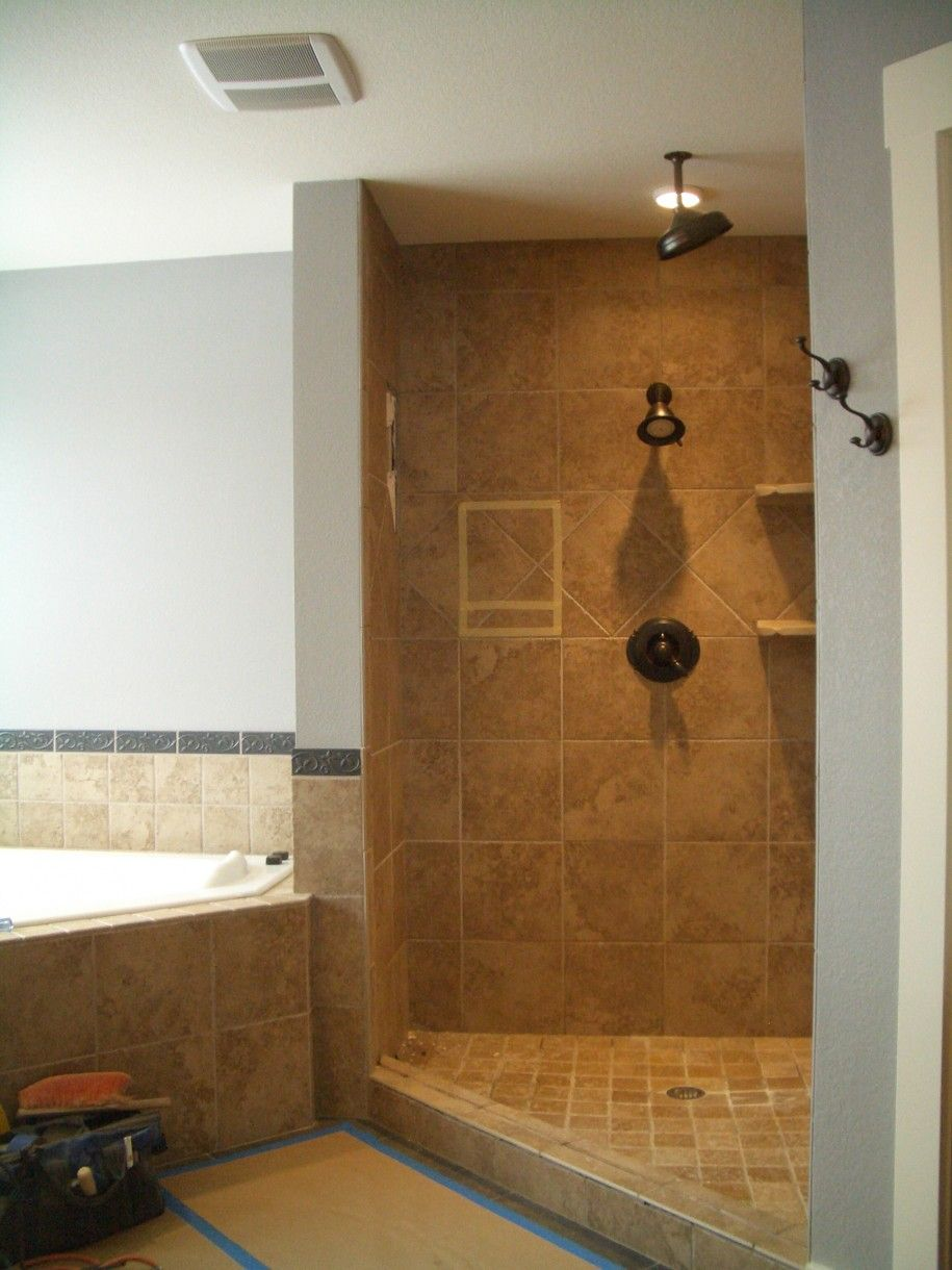 Excellent Open Shower Bathroom Design Ideas