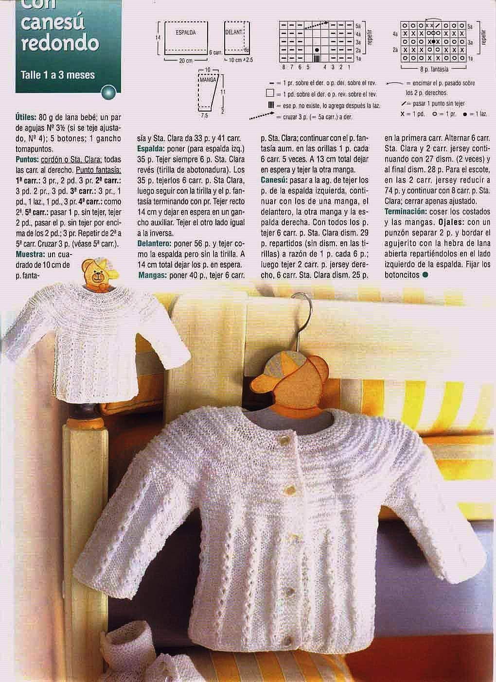 Mil cosas en el Baúl: Saquito para Bebé con Canesú Redondo a dos ...