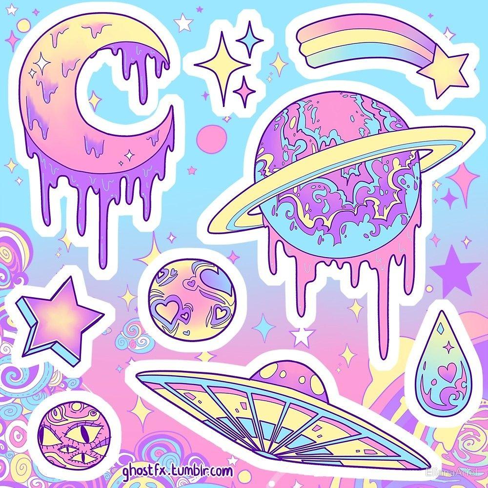 """""""Pastel Galaxy"""" by ElianaAriel Redbubble Adesivos"""